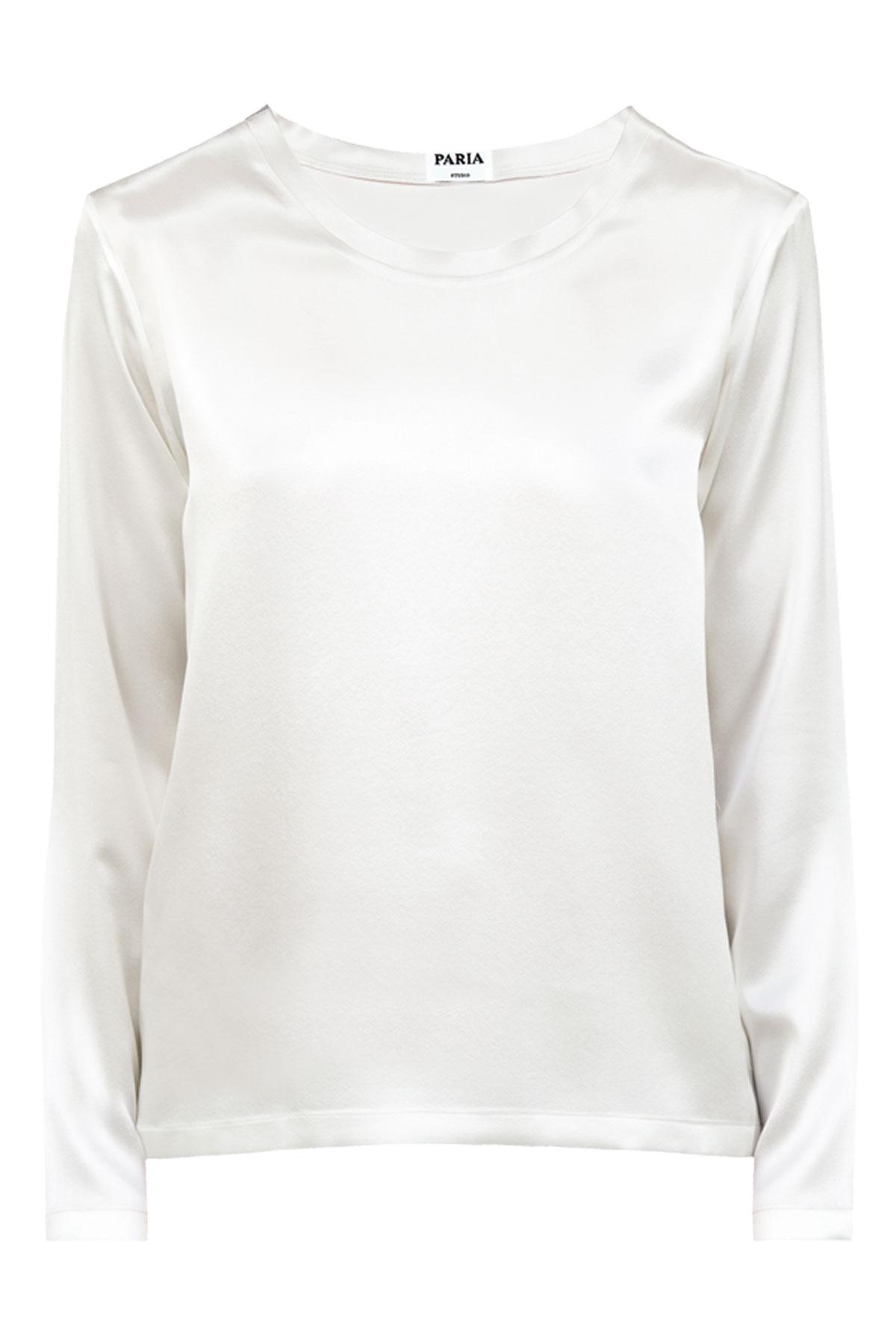 367b19c966274e Tops Silk Long Sleeve Top