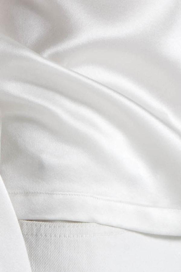 detail manche longue soie blanc 13