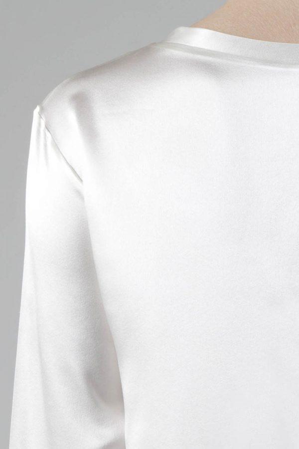 detail manche longue soie blanc 10